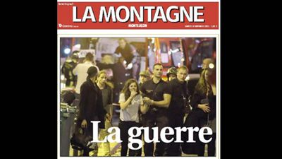 French newspaper <em>La Montagne</em> ran this preview, titled 'The War'.