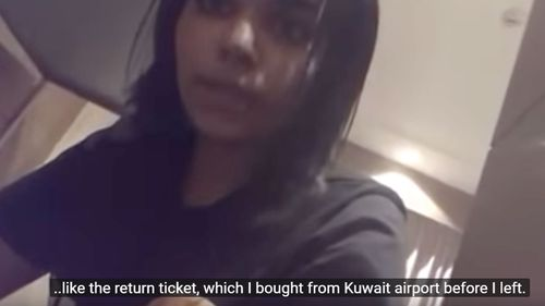 The teenager claims she was abducted and had her passport confiscated by Saudi diplomatic staff in Thailand, despite having a visa to travel to Australia.