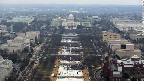 A National Parks Service photo taken during Trump's inauguration.