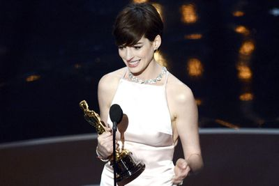 'It came true!' Anne Hathaway's false modesty aside, she was utterly deserving of Best Supporting Actress for her powerful performance in Les Mis.