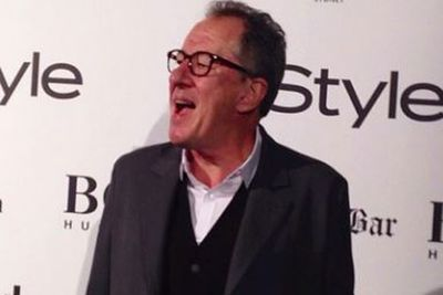 "@instylemag: ""Geoffrey Rush hits our black carpet for the #MenOfStyle cocktail party held with @hugoboss at @hiltonsydney's #MarbleBar. #HugoBoss.""<br/><br/>Image: Instagram"