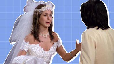 Friends' Monica and Rachel rekindle their friendship in the pilot episode.