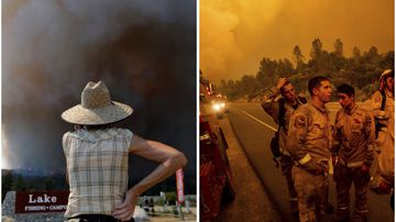 Residents are evacuated and firefighters are battling wildfires in Redding California