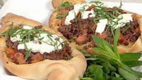 Turkish Pide Lamb Pizza