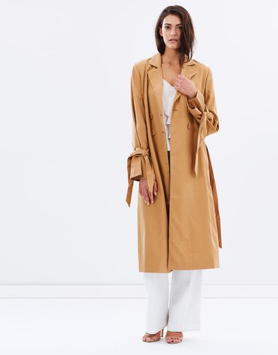 "C/Meo Unstoppable trench, $239.95 at <a href=""http://www.theiconic.com.au/unstoppable-trench-441364.html"" target=""_blank"">The Iconic</a><br />"
