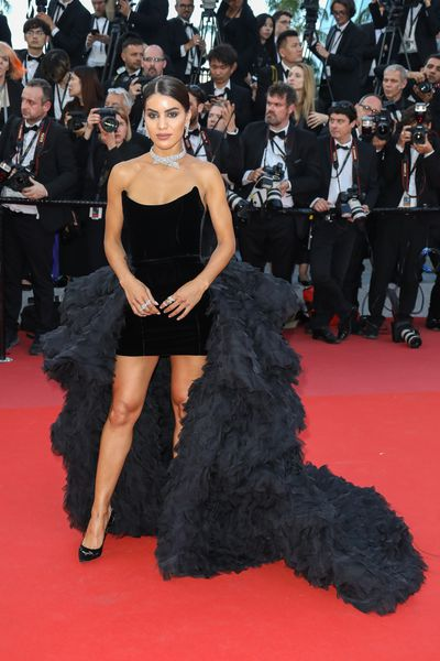 Camila Coelho in Ralph and Russo at the 2018 Cannes Film Festival