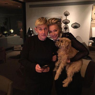 Ellen DeGeneres, wife Portia de Rossi, accident, home, recovering, dog