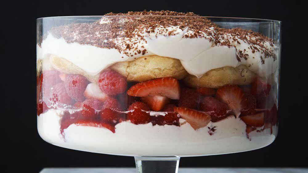 Neil Perry's berry mascarpone trifle