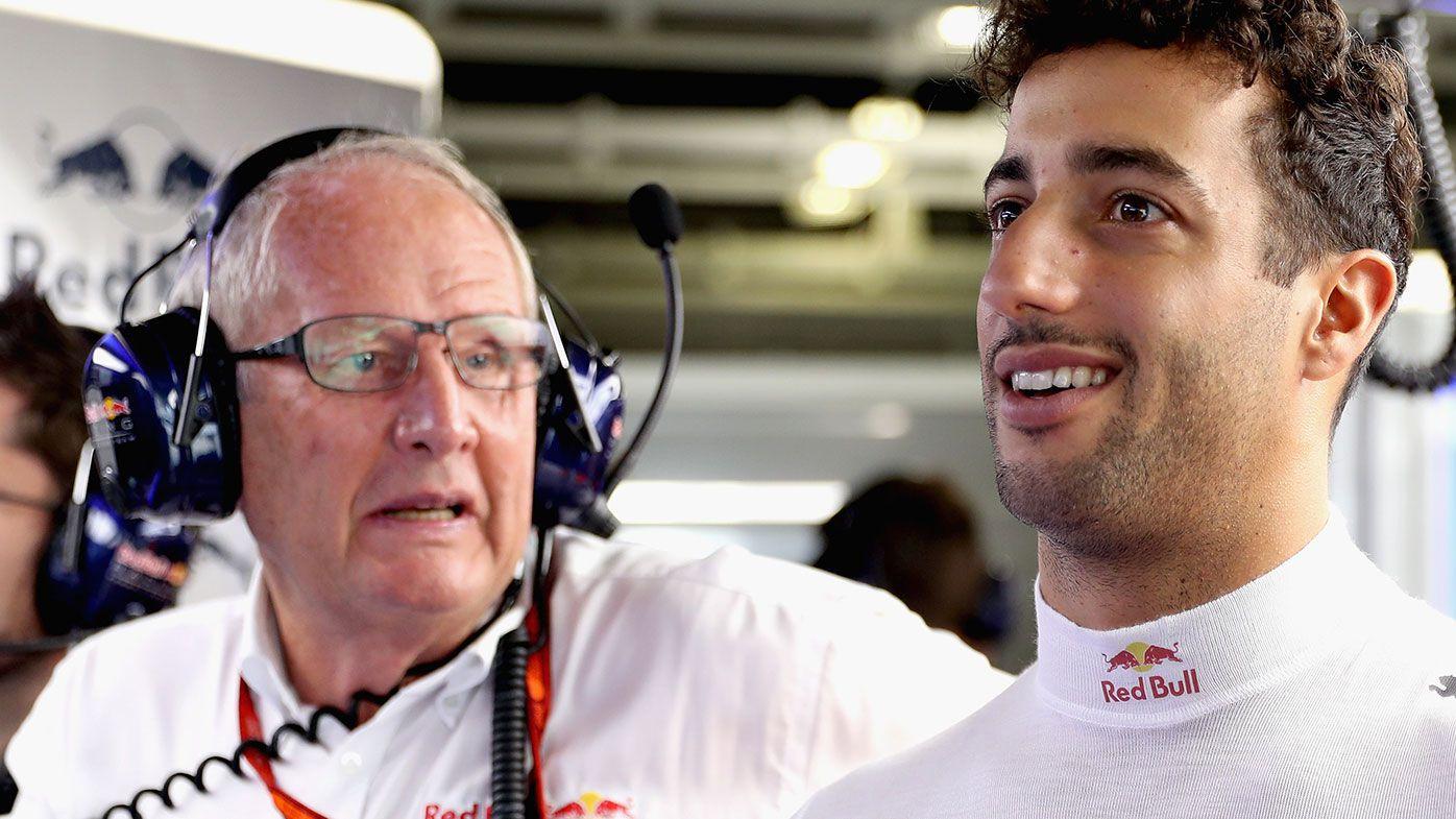 Helmut Marko (left) and Daniel Ricciardo