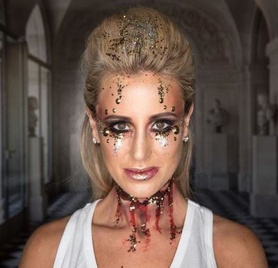 "<p>PR queen and paparazzi favourite Roxy Jacenko has posted a snap of herself in Halloween makeup that is nothing less than epic.</p> <p>The 37-year-old mama of two had her makeup professionally-applied and it is quite something. Her throat is sliced and bleeding, her eyes weeping. And yet - she somehow manages to look utterly gorgeous.Clever filters? Nope. The truth is Roxy is as beautiful in the flesh as she is in her pictures. That is to say - very.</p> <p>And she's chuffed with the result too.</p> <p>""I scoured Instagram looking for inspo,"" she said.</p> <p>""Last year I was a most unflattering pumpkin so this year it was time to glam it up.""&nbsp;</p> <p>As a treat Roxy also arranged for her staff members, many of whom are dear girlfriends, to have their makeup applied and all of the women looked equal parts spooky and beautiful. Frankly, we don't know how they do it - but they do. Scroll through and you'll quickly see exactly what we mean.&nbsp;</p>"