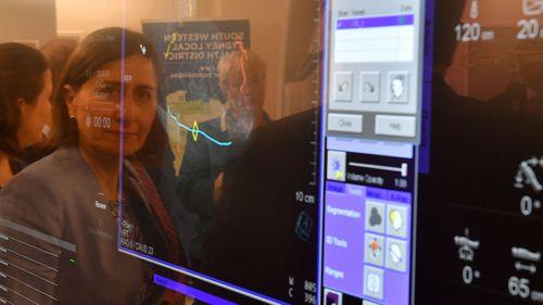 Gladys Berejiklian visits Liverpool Hospital.