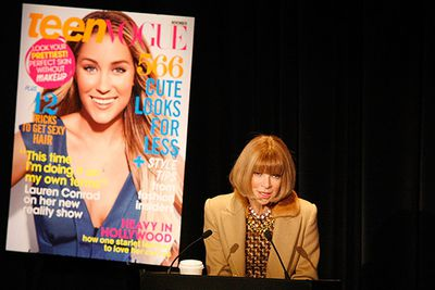 """She's front row at all the major fashion shows around the world, but <i>American Vogue</i>'s editor-in-chief, Anna Wintour was previously fired from <i>Harper's Bazaar</i> for her """"too edgy"""" photoshoots. <br/><br/>Speaking at a <a href=http://www.independent.co.uk/life-style/fashion/features/anna-wintour-being-fired-it-was-my-lucky-break-2119531.html>fashion conference in New York City</a>, Wintour said, """"I worked for American Harper's Bazaar – they fired me. I recommend that you all get fired. It's a great learning experience.""""<br/>"""