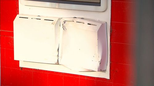 A man was pinned to an ATM by an alleged drunk driver.