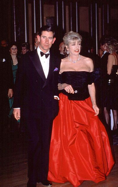 Prince Charles and Lady Dale Tryon in 1990.