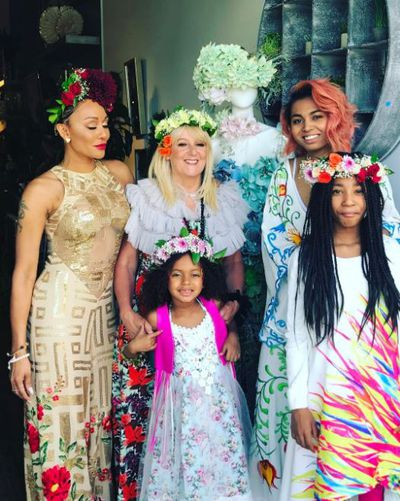 """Mel B's recent flower-crowned family gathering with her&nbsp;<a href=""""http://honey.nine.com.au/2017/05/31/09/36/mel-b-reunites-with-estranged-mum-andrea-to-pay-tribute-to-dad"""" target=""""_blank"""" draggable=""""false"""">mum and daughters</a>."""