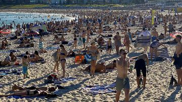 Bondi Beach as Australians are told to keep their distance from each other.