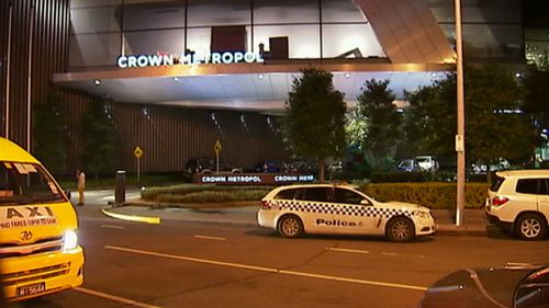 The man's body was found at the Crown Metropol in Southbank. (9NEWS)
