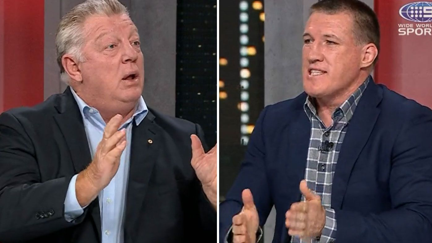 Phil Gould, Paul Gallen explode in war of words over Felise Kaufusi's elbow to Ryan Matterson's head
