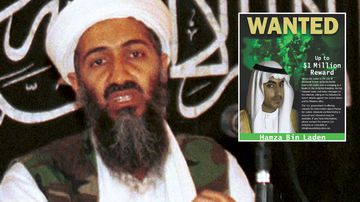 Osama Bin Laden and his son Hamza.