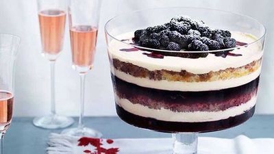 "Click for our <a href=""http://kitchen.nine.com.au/2016/05/16/19/29/dark-berry-trifle"" target=""_top"">dark berry trifle</a> recipe"