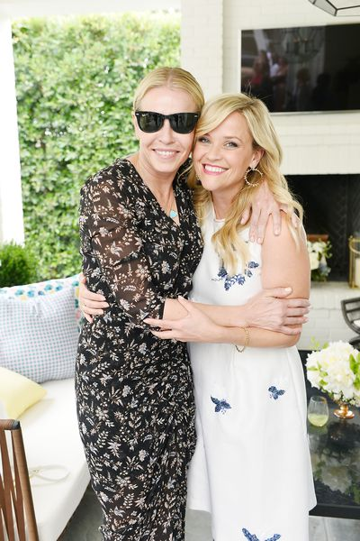 Comedian Chelsea Handler and Reese Witherspoon at the Draper James event.