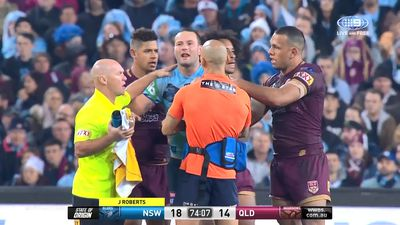 State of Origin 2018: Alan Langer sportsmanship shines in tending to floored Boyd Cordner