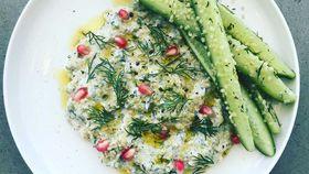 Garlicky charred zucchini