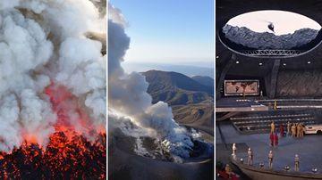'James Bond' volcano erupts