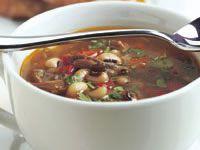 Lamb and black-eye bean soup