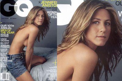 Jen's 2005 <i>GQ</i> photo shoot post-Brad Pitt divorce