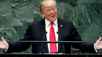 World leaders laugh as Donald Trump boasts of US successes at UN