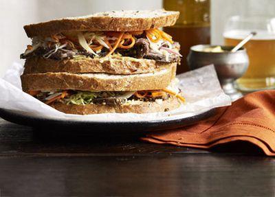 "Recipe: <a href=""http://kitchen.nine.com.au/2016/05/17/12/05/thomas-keller-wagyu-brisket-pastrami-sandwich-with-coleslaw"" target=""_top"">Thomas Keller's wagyu brisket 'pastrami' sandwich with coleslaw</a>"