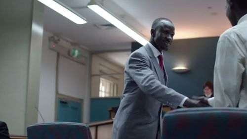 As a lawyer Mr Adut now spends his life fighting to make sure other Sudanese refugees get the legal support and advice they need. (Western Sydney University)