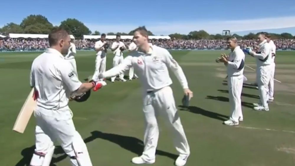 Aussies give McCullum guard of honour