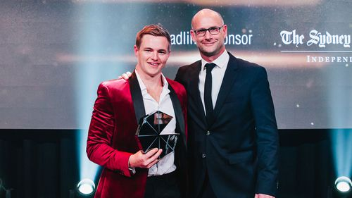 9Finance editor Stu Marsh was named under-30 achiever of the year at the Mumbrella Awards