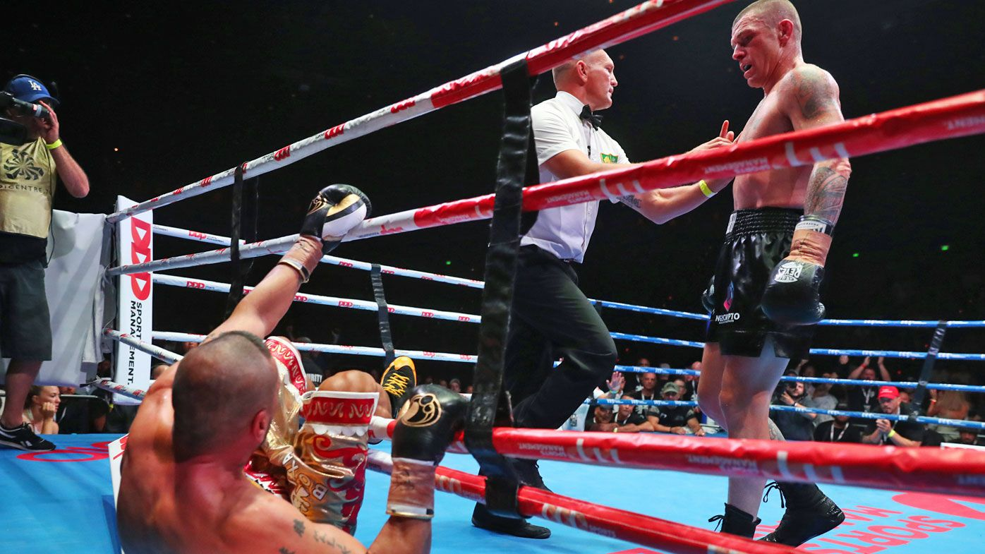 John Wayne-Parr punched Anthony Mundine out of the ring at one stage in Brisbane at