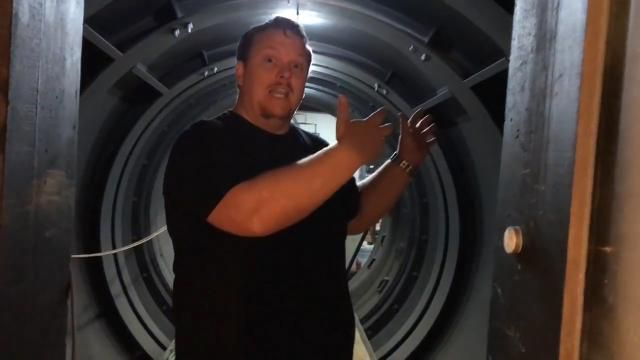 Man transforms nuclear missile silo into house