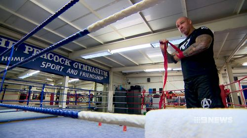 Browne took up boxing aged 30. By 33, he went fulltime. (9NEWS)