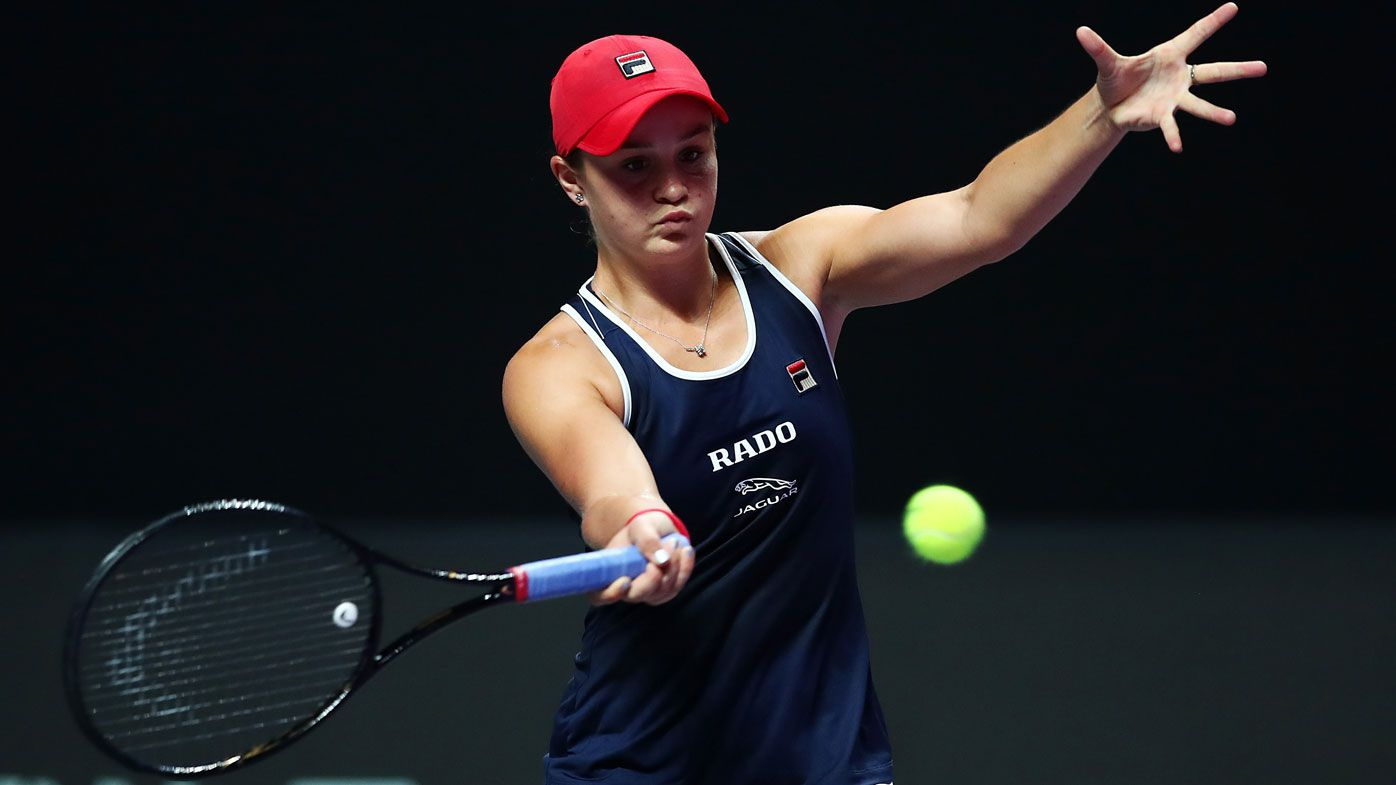 Barty party on hold for year-end No.1, despite winning WTA Finals opener