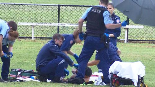 A man has been shot in Sydney's west.