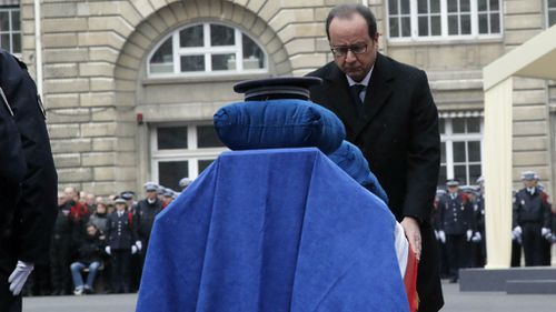 French President Hollande leads tributes for Paris attack victims