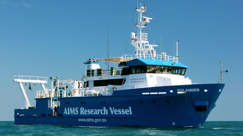 The AIMS research ship Solander. (Image: AIMS).