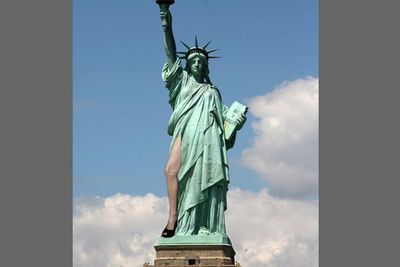 Behold, the Statue of LEG-erty!