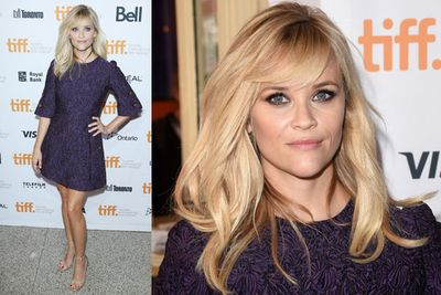 Reese Witherspoon looking adorable at the premiere of <i>The Good Lie</i>.