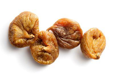 Dried figs: 47.3g sugar per 100g