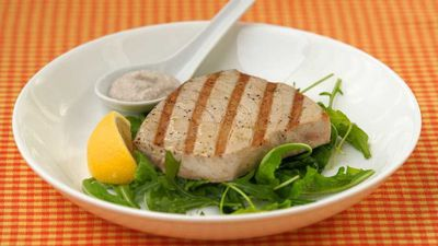 "<a href=""http://kitchen.nine.com.au/2016/12/13/12/00/barbecued-tuna-steaks-with-walnut-sauce"" target=""_top"">Barbecued tuna steaks with walnut sauce</a><br /> <br /> <a href=""http://kitchen.nine.com.au/2016/12/13/15/58/choosing-the-best-seafood-for-christmas"" target=""_top"">RELATED: How to choose the best seafood for Christmas</a>"