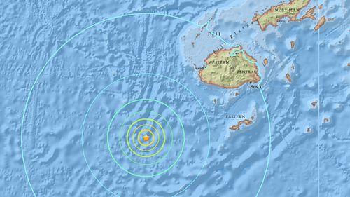 Magnitude 6.9 earthquake strikes off coast of Fiji, USGS reports