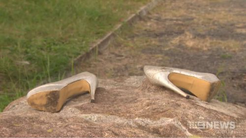 Shoes and wallets were left discarded as people fled. (9NEWS)