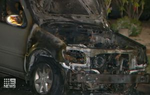 Bikie attack suspected after family's two cars go up in flames