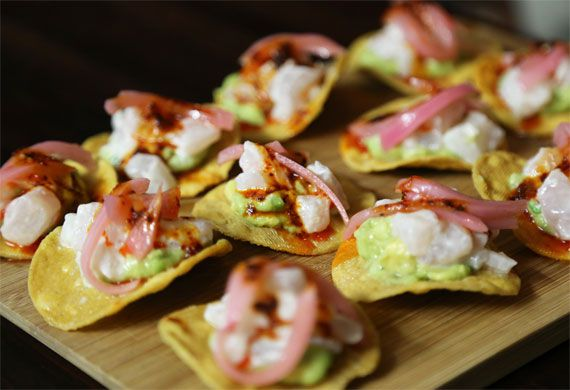 Finger food recipes with fish ceviche tostadas forumfinder Image collections